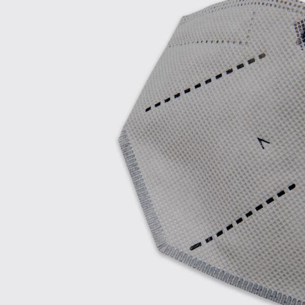 mascarilla higienica reutilizable airnatech plus gris detalle