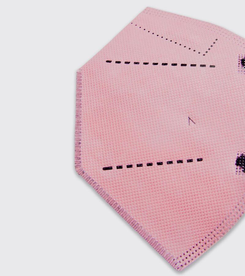 mascarilla higienica reutilizable airnatech plus rosa detalle
