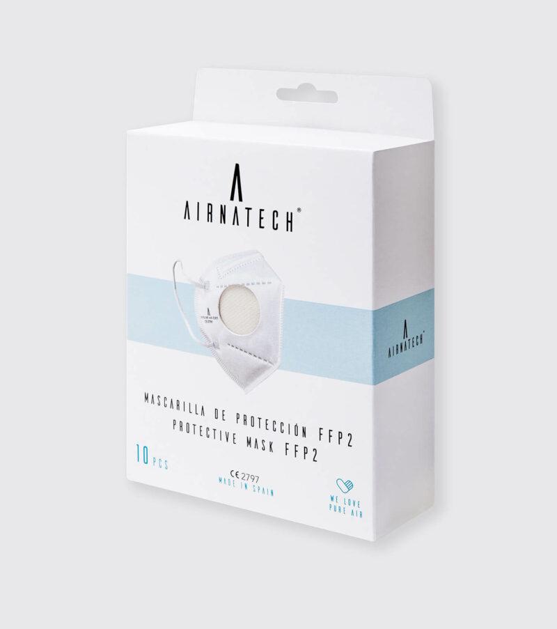 pack 10 mascarillas ffp2 airnatech blancas