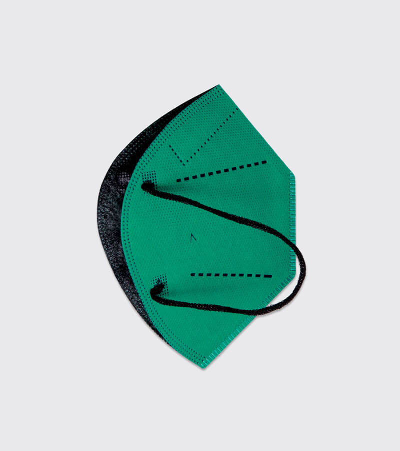mascarilla higienica reutilizable airnatech plus esmeralda capas