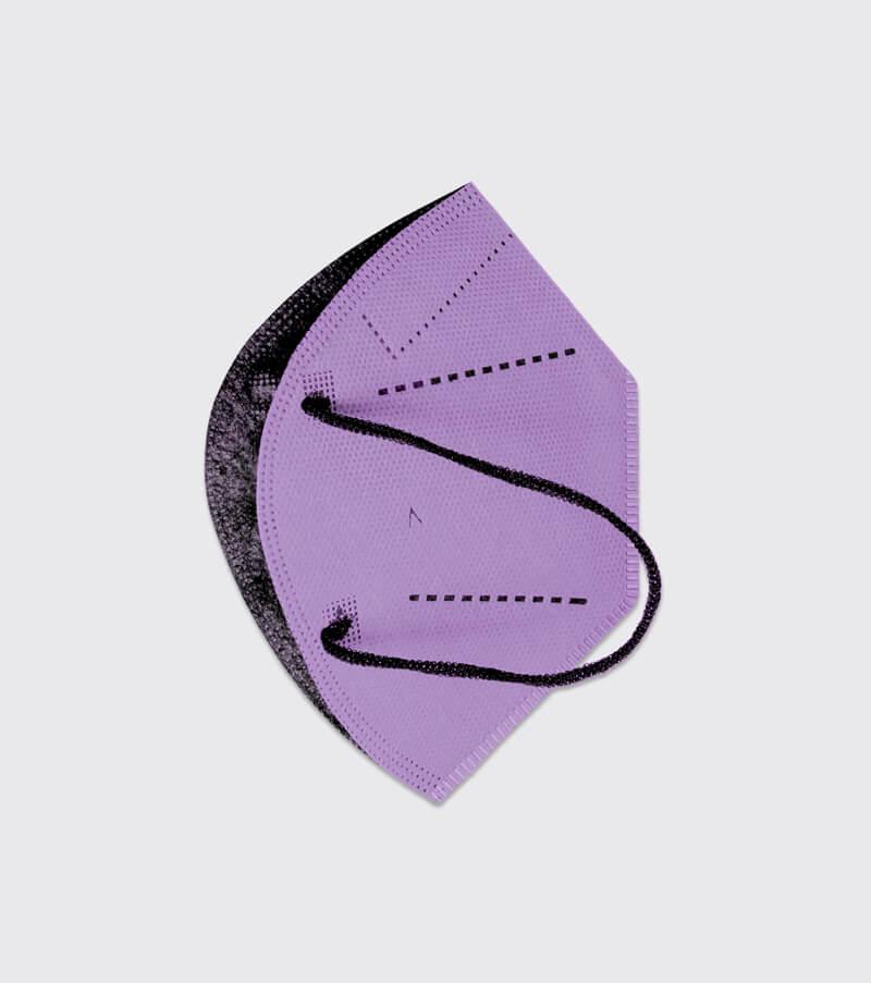 mascarilla higienica reutilizable airnatech plus lila capas