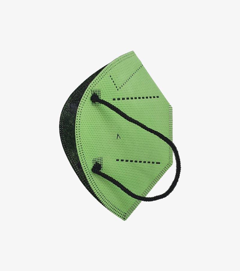 mascarilla airnatech plus verde pistacho lateral