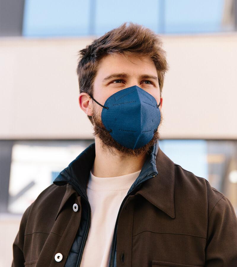 mascarilla higienica reutilizable airnatech plus azul almirante hombre