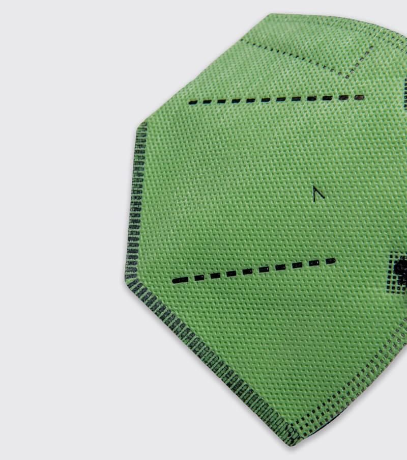 mascarilla higienica reutilizable airnatech plus verde pistacho detalle