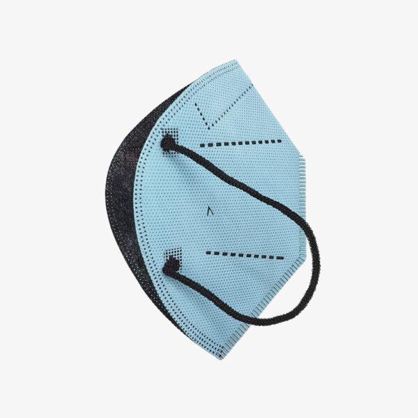 mascarilla airnatech plus azul celeste lateral