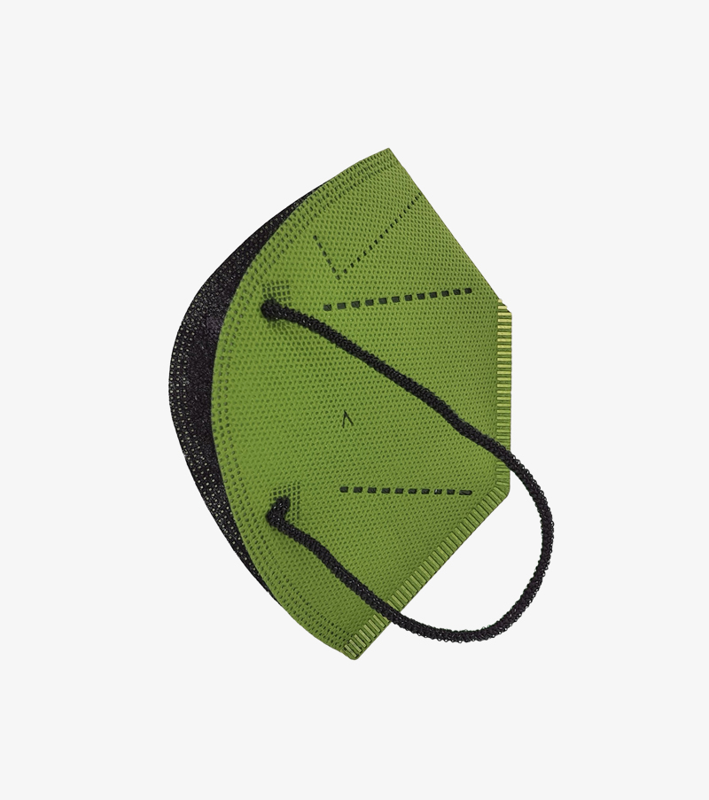 mascarilla airnatech plus verde militar lateral