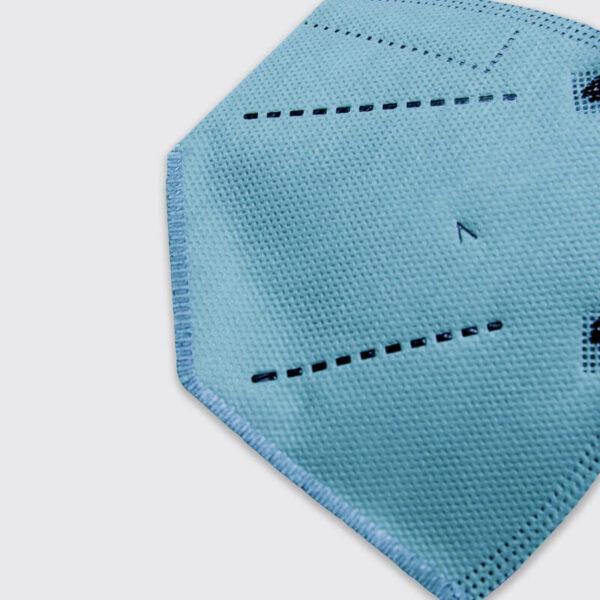 mascarilla higienica reutilizable airnatech plus azul celeste detalle