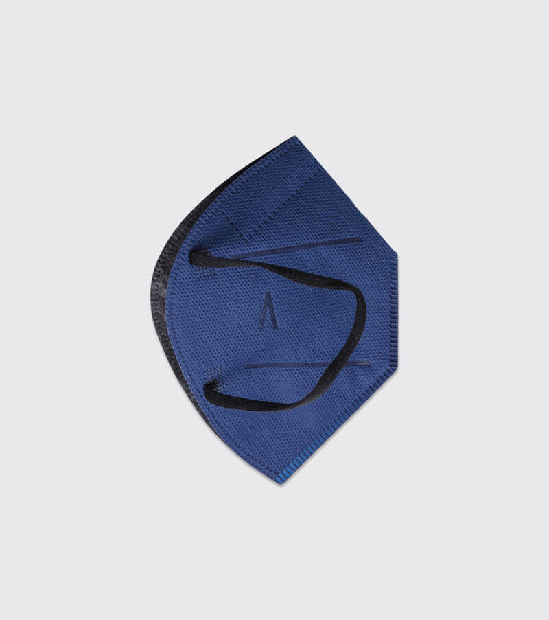 mascarilla higienica reutilizable airnatech plus mini azul marino capas