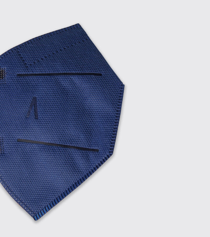 mascarilla higienica reutilizable airnatech plus mini azul marino detalle