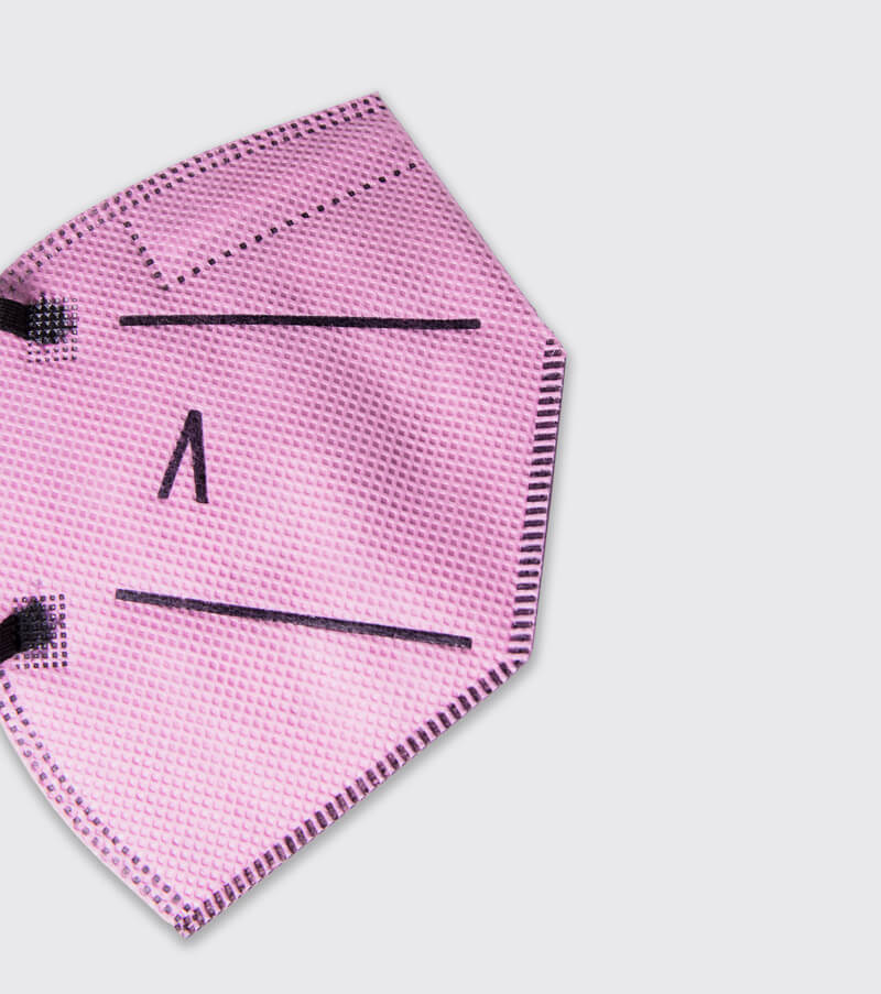 mascarilla higienica reutilizable airnatech plus mini rosa detalle