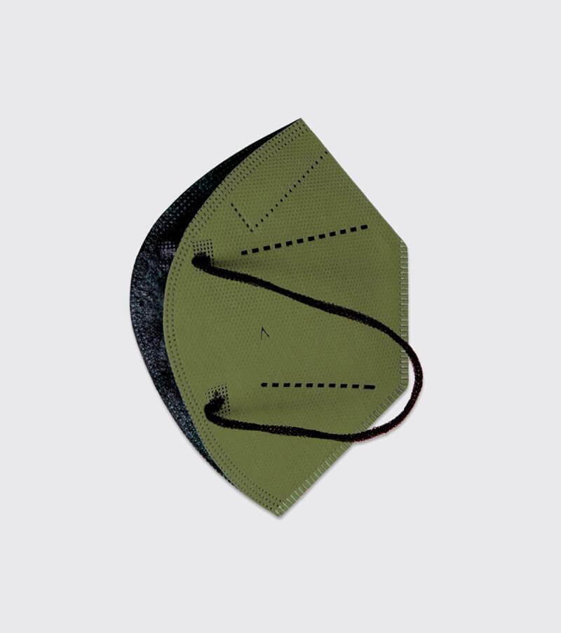 mascarilla higienica reutilizable airnatech plus verde militar capas