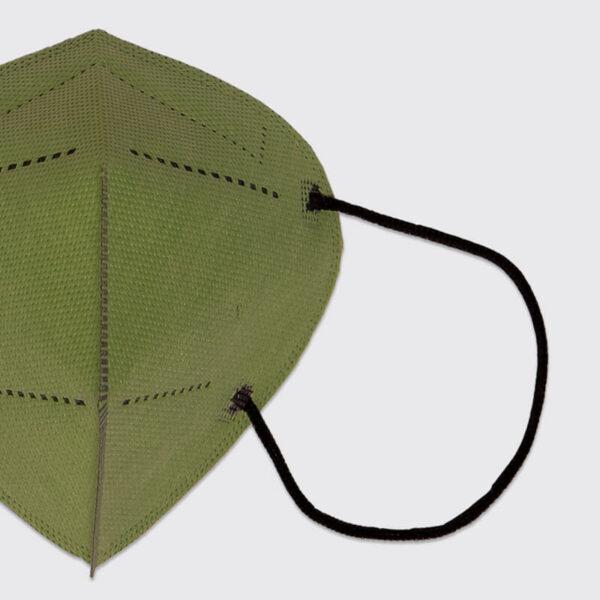 mascarilla higienica reutilizable airnatech plus verde militar gomas