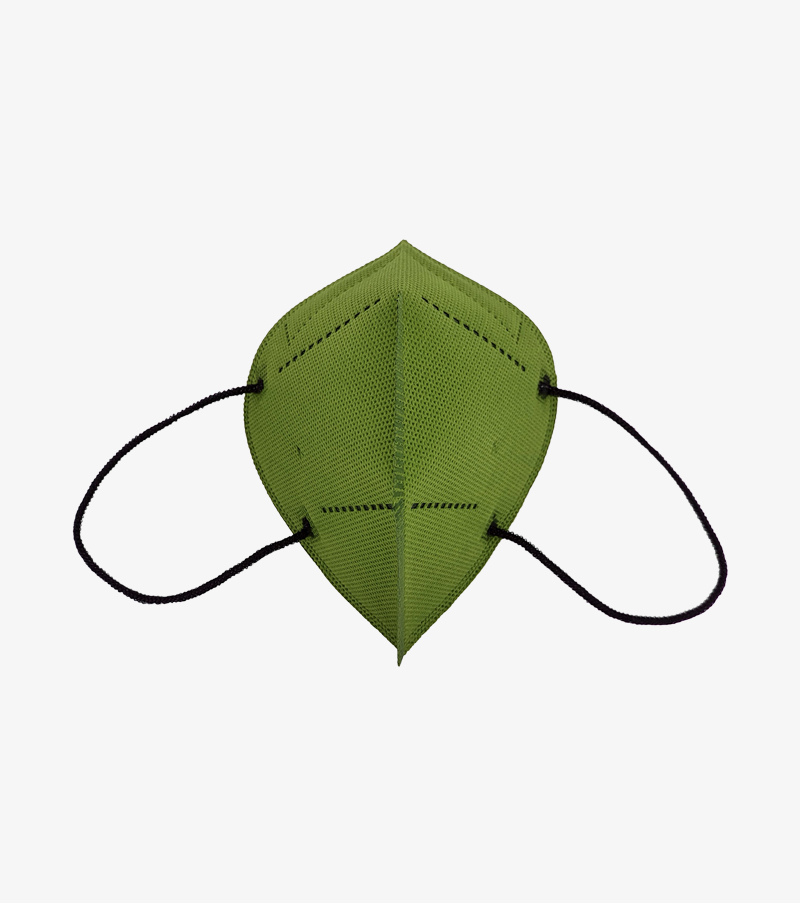 mascarilla verde militar airnatech plus frontal