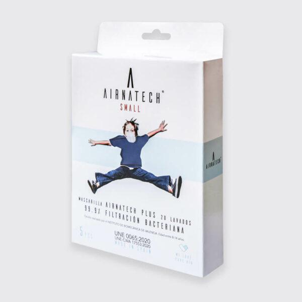pack 5 mascarillas higienicas reutilizables airnatech plus mini azul marino