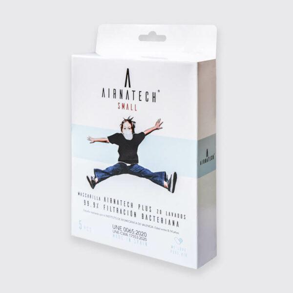 pack 5 mascarillas higienicas reutilizables airnatech plus mini negra