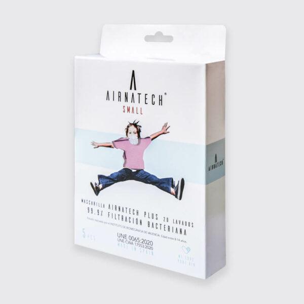 pack 5 mascarillas higienicas reutilizables airnatech plus mini rosa